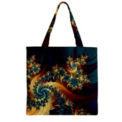 Patterns Paint Ice  Zipper Grocery Tote Bag by amphoto