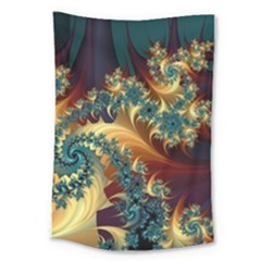 Patterns Paint Ice  Large Tapestry by amphoto