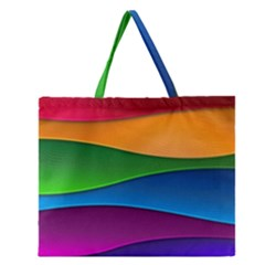 Layers Light Bright  Zipper Large Tote Bag by amphoto