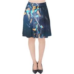 Explosion Bright Light  Velvet High Waist Skirt