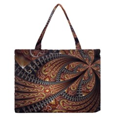 Patterns Background Dark  Zipper Medium Tote Bag by amphoto