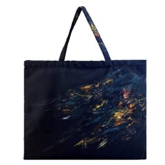 Spots Dark Lines Glimpses 3840x2400 Zipper Large Tote Bag by amphoto
