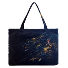 Spots Dark Lines Glimpses 3840x2400 Zipper Medium Tote Bag by amphoto