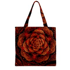 Flower Patterns Petals  Zipper Grocery Tote Bag by amphoto
