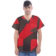 Lines Background Light  Men s V Neck Scrub Top