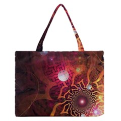 Explosion Background Bright  Zipper Medium Tote Bag by amphoto