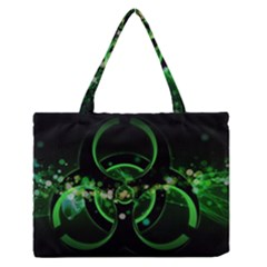 Radiation Sign Spot  Zipper Medium Tote Bag by amphoto