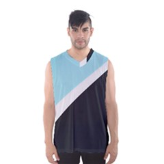 Lines Wavy Strip  Men s Basketball Tank Top by amphoto