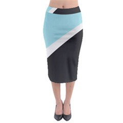 Lines Wavy Strip  Midi Pencil Skirt by amphoto