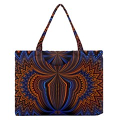 Patterns Light Dark Zipper Medium Tote Bag by amphoto