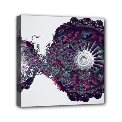Circles Background Bright  Mini Canvas 6  X 6  by amphoto