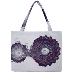 Circles Background Bright  Mini Tote Bag by amphoto