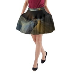 Background Blurred Lines A Line Pocket Skirt by amphoto