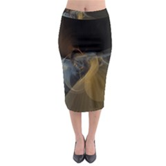 Background Blurred Lines Midi Pencil Skirt by amphoto