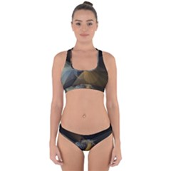 Background Blurred Lines Cross Back Hipster Bikini Set