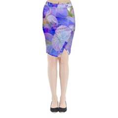 Flowers Abstract Colorful  Midi Wrap Pencil Skirt