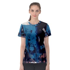 Abstraction Stains Paint  Women s Sport Mesh Tee by amphoto