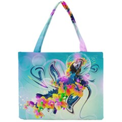 Parrot Abstraction Patterns Mini Tote Bag by amphoto