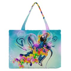 Parrot Abstraction Patterns Zipper Medium Tote Bag by amphoto