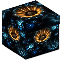 Fractal Flowers Abstract  Storage Stool 12   by amphoto