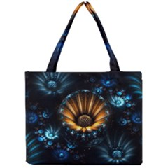 Fractal Flowers Abstract  Mini Tote Bag by amphoto
