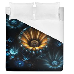 Fractal Flowers Abstract  Duvet Cover (queen Size) by amphoto
