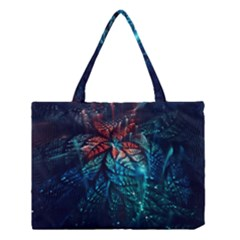 Fractal Flower Shiny  Medium Tote Bag by amphoto