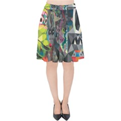 Psychedelic Abstraction Pattern  Velvet High Waist Skirt by amphoto