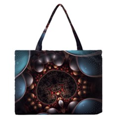 Pattern Fractal Abstract 3840x2400 Zipper Medium Tote Bag by amphoto