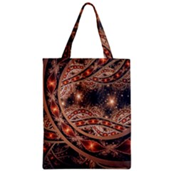 Fractal Patterns Abstract  Zipper Classic Tote Bag by amphoto