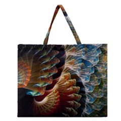Fractal Patterns Abstract 3840x2400 Zipper Large Tote Bag by amphoto