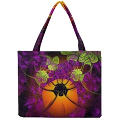 Patterns Lines Purple  Mini Tote Bag by amphoto