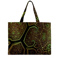 Fractal Weave Shape  Zipper Mini Tote Bag by amphoto