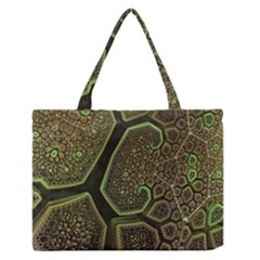 Fractal Weave Shape  Zipper Medium Tote Bag by amphoto