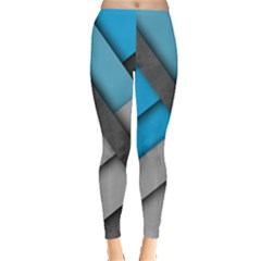 Line Shape Texture  Leggings  by amphoto