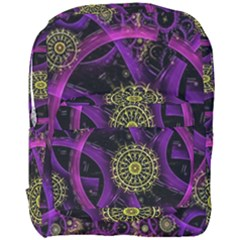 Fractal Neon Rings  Full Print Backpack