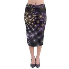 Fractal Patterns Dark Midi Pencil Skirt by amphoto
