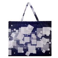 Squares Shapes Many  Zipper Large Tote Bag by amphoto
