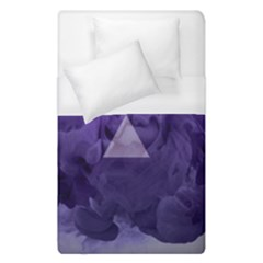 Smoke Triangle Lilac  Duvet Cover (single Size) by amphoto