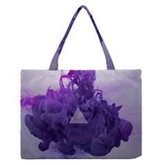 Smoke Triangle Lilac  Zipper Medium Tote Bag by amphoto