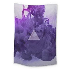 Smoke Triangle Lilac  Large Tapestry by amphoto