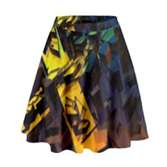 Background Bright Light  High Waist Skirt by amphoto