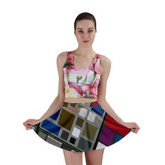 Abstract Composition Mini Skirt