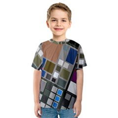 Abstract Composition Kids  Sport Mesh Tee