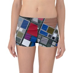 Abstract Composition Boyleg Bikini Bottoms