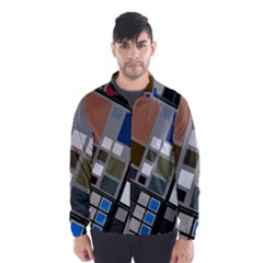 Abstract Composition Wind Breaker (men)