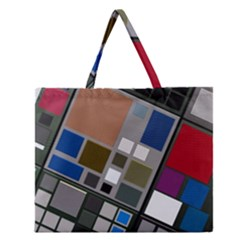 Abstract Composition Zipper Large Tote Bag