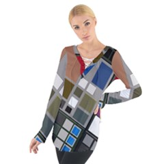 Abstract Composition Tie Up Tee