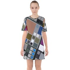 Abstract Composition Mini Dress