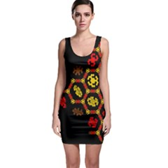 Algorithmic Drawings Bodycon Dress